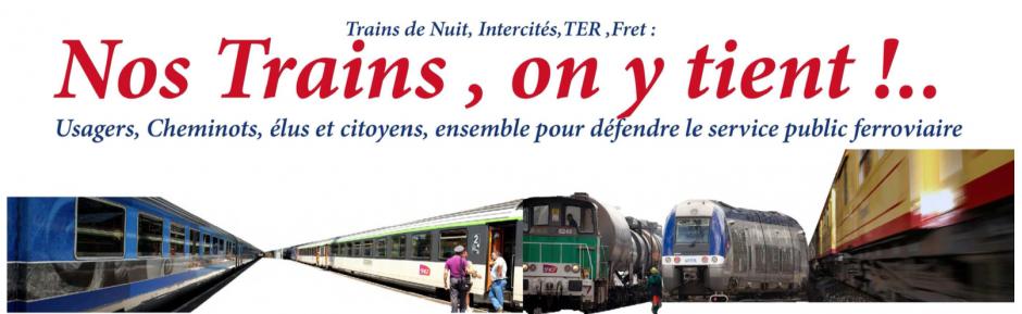 Trains de Nuit, Intercités, TER, Fret. Nos trains, on y tient (la pétition)