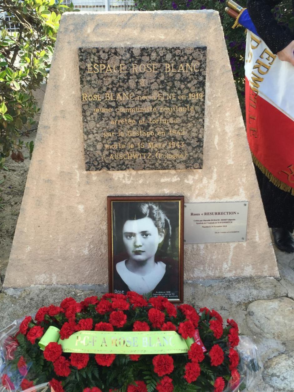 Le PCF d'Elne et des communes voisines honore la mémoire de Rose Blanc