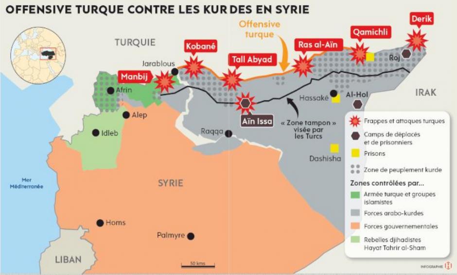 Arrêtons l'agression turque contre les kurdes