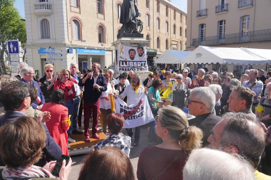 Rassemblement de soutien aux prisonniers politiques Catalans