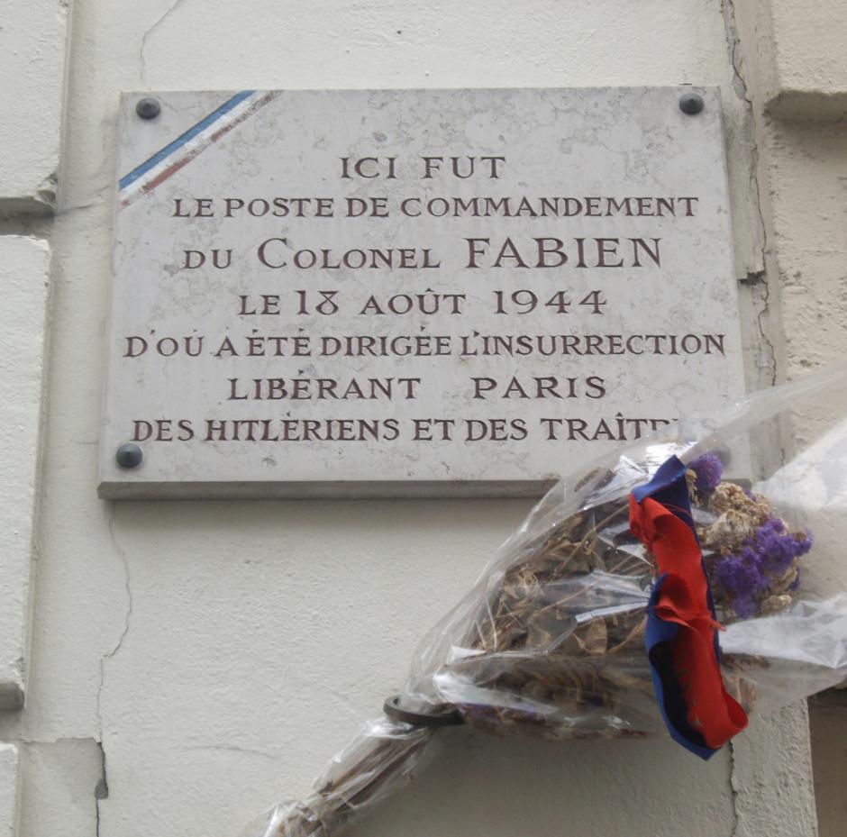 Hommage à Pierre Georges dit « Colonel Fabien »