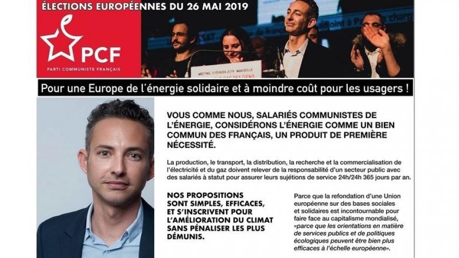 Pour un service public de l'énergie, soutenez la liste PCF aux européennes de Ian Brossat