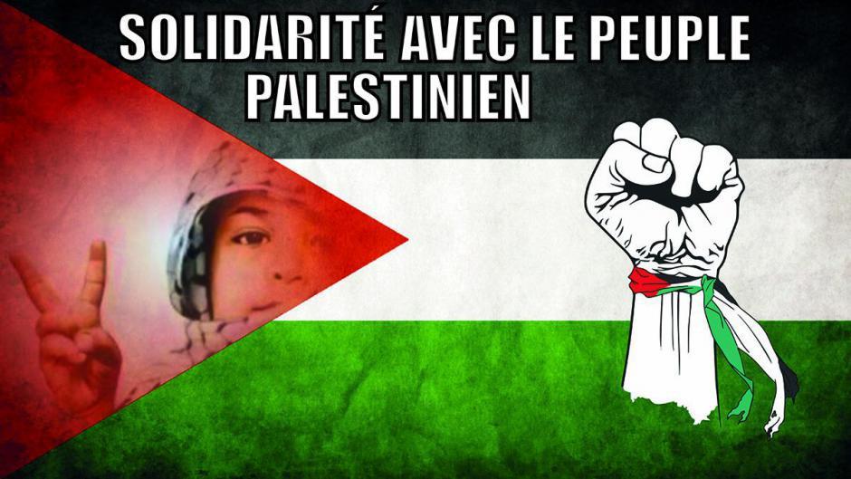 Appel à rassemblement en solidarité au peuple Palestinien