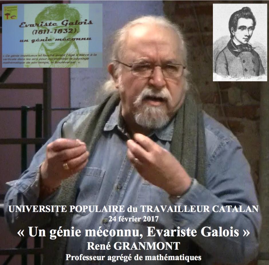 UTPC. « Un génie méconnu, Evariste Galois »