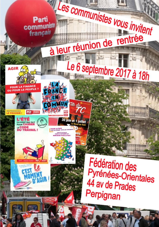 Assemblée de rentrée des communistes des Pyrénées-Orientales