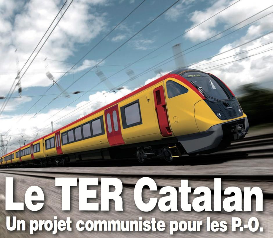 Présentation du projet de transport catalan. Conférence de presse du PCF 66