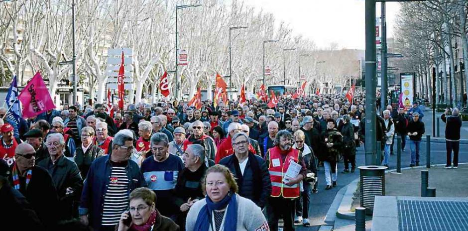 Plus de 2 000 retraités « maltraités » ont battu le pavé perpignanais