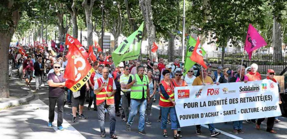 Les retraités protestent contre la politique de Macron
