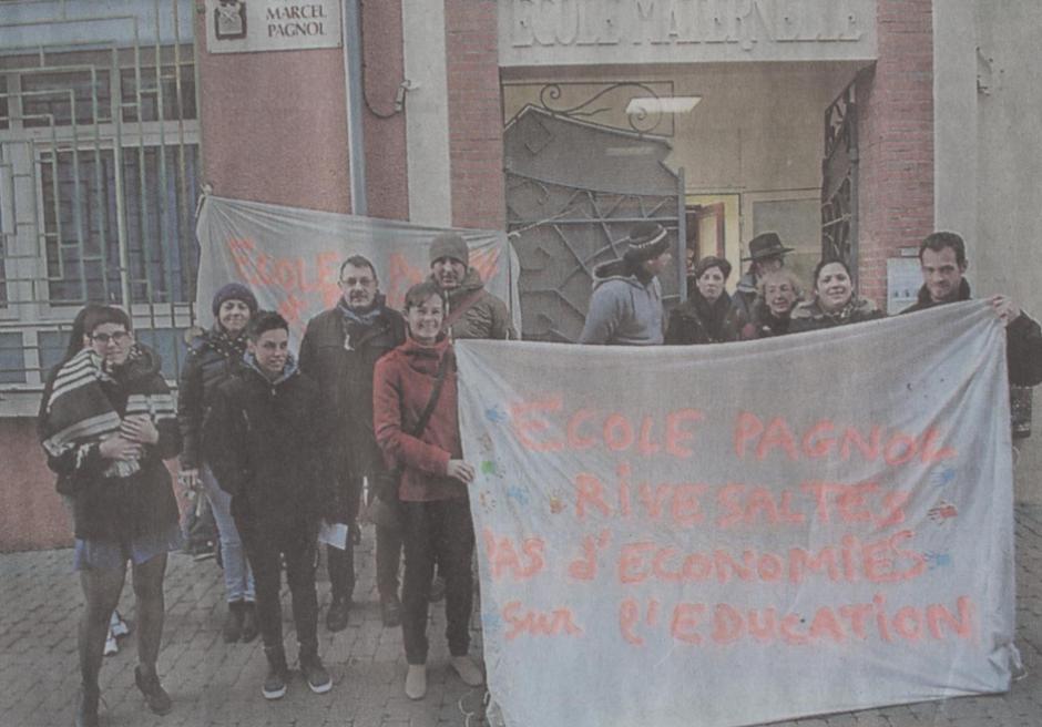 Rivesaltes. Mobilisation des parents devant l'école Pagnol