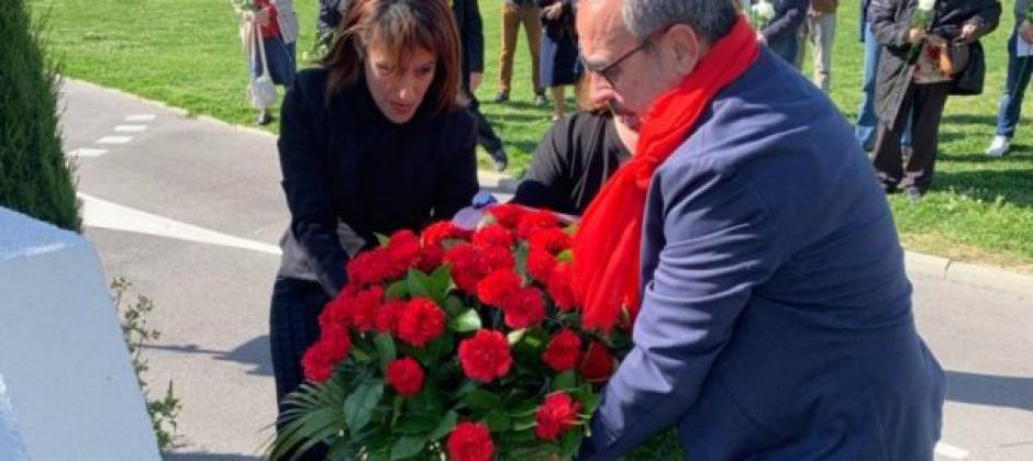 Les communistes d'Elne ont rendu hommage à Rose Blanc