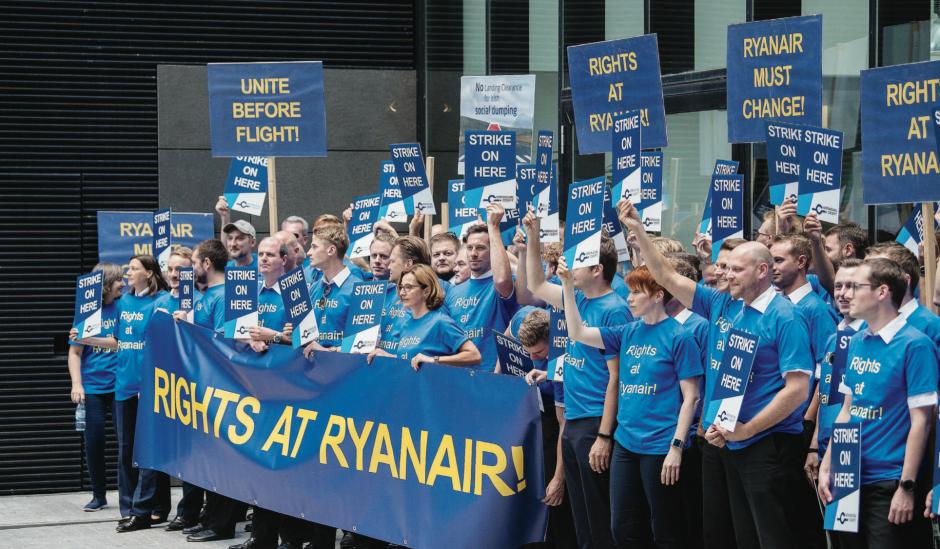 Grève historique des pilotes de Ryanair en Europe
