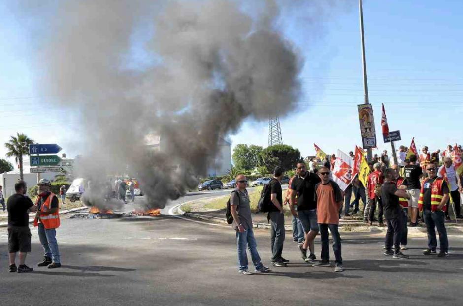 Les cheminots bloquent Saint-Charles