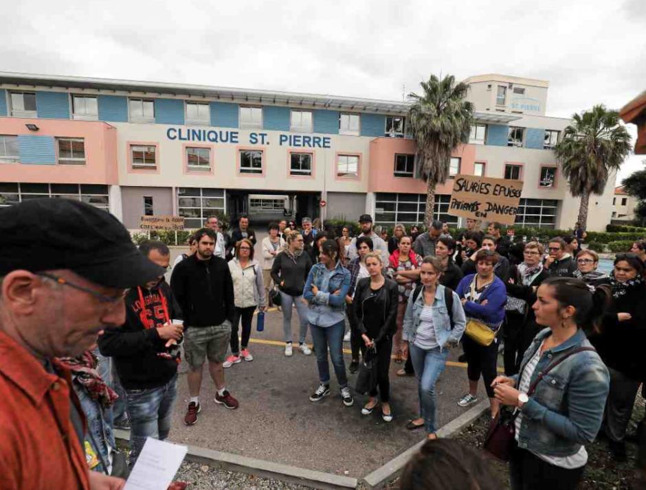 Le bras de fer se durcit à la clinique Saint-Pierre entre salariés et direction