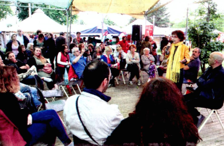 Fête du Travailleur catalan. Entre parapluies et militantisme