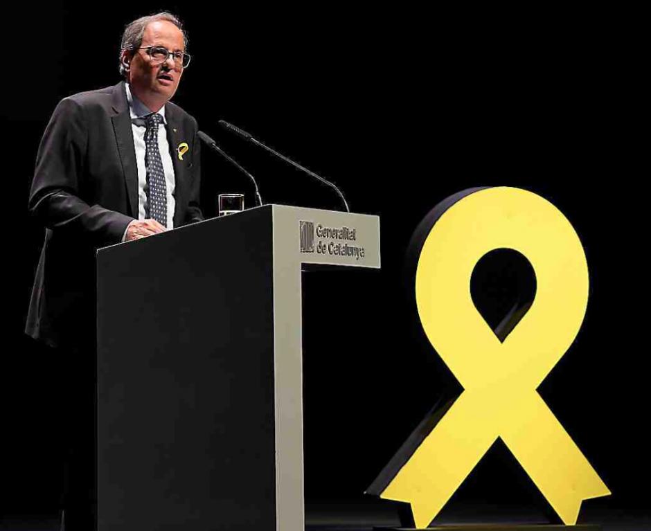 Catalogne. Le président Quim Torra appelle les Catalans à la mobilisation