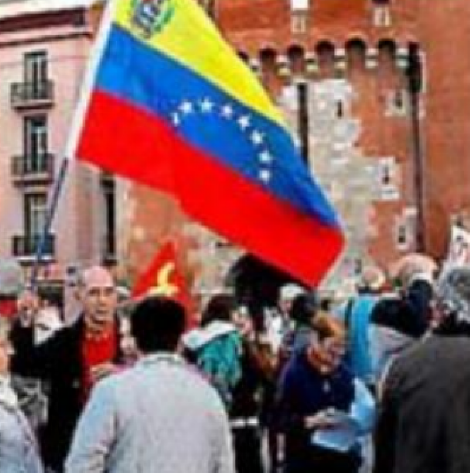 Venezuela. Mobilisation devant le Castillet