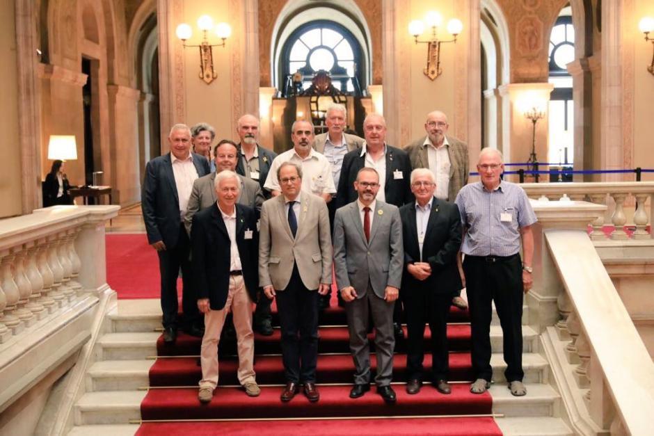 Maires des Pyrénées-Orientales et vice-président du Département reçus au Parlament de Catalunya