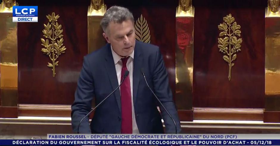 Discours de Fabien Roussel à l'Assemblée Nationale. Réponse aux propositions du Premier ministre